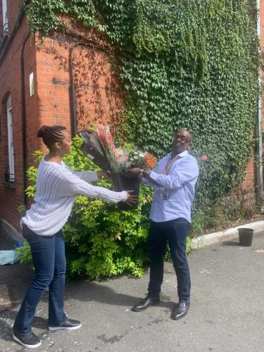 Providing flowers to youth charity